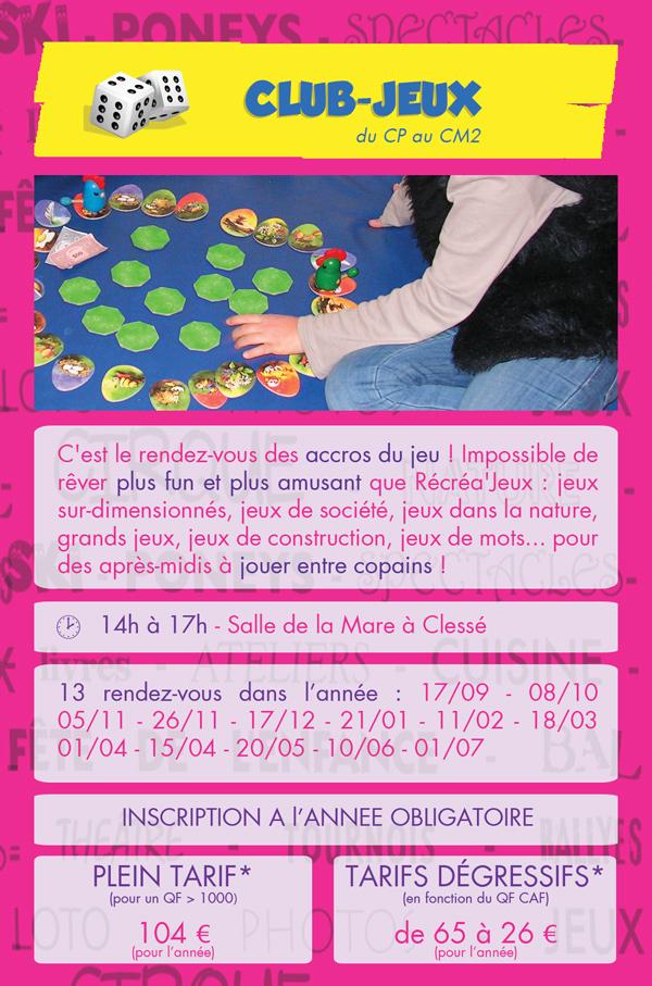 CECL - Club-Jeux - Clesé - Rentrée 2014