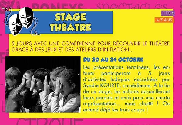 Stage de Théâtre au Vacances d'Automne - CECL 2014