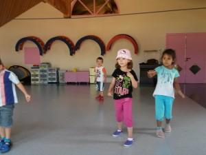 Jeux de motricité en maternelle à Clessé