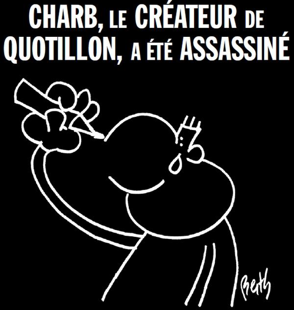 Charb le Créateur de la mascotte de Mon Quotidien a été assassiné.